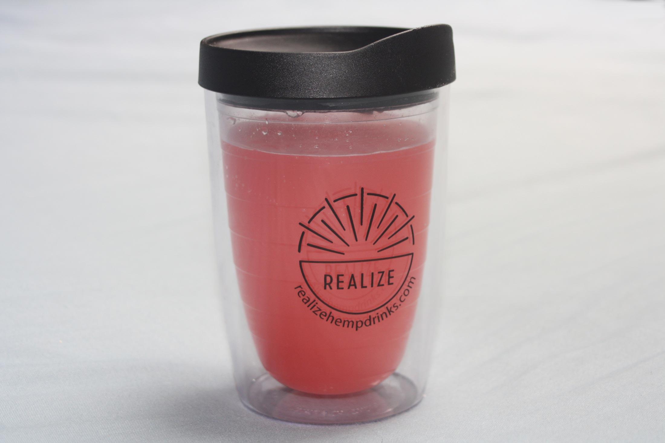 realize hemp raspberry CBD isolate powder drink